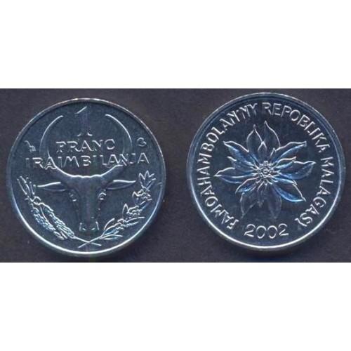 MADAGASCAR 1 Franc 2002
