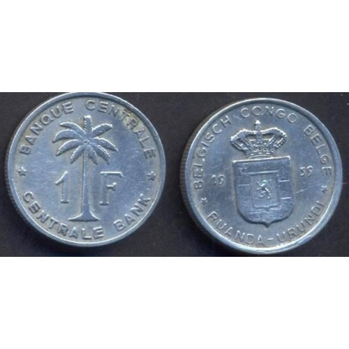 BELGIAN CONGO 1 Franc 1959