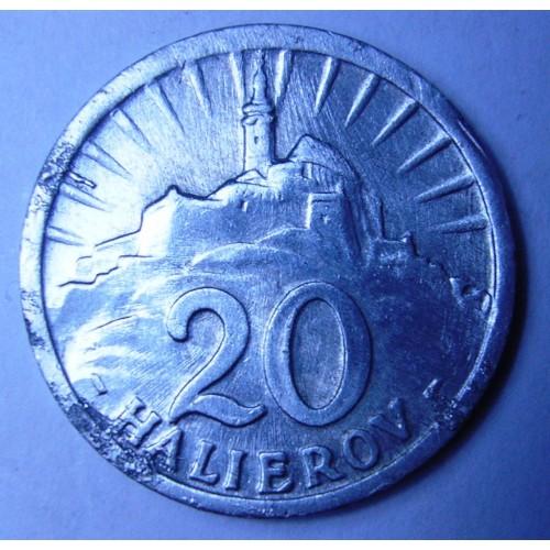 SLOVAKIA 20 Halierov 1942