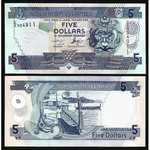 SOLOMON ISLANDS 5 Dollars 2004