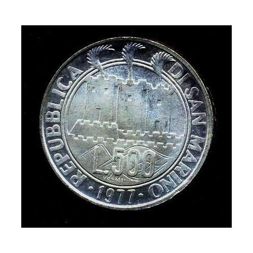 SAN MARINO 500 Lire 1977 AG...