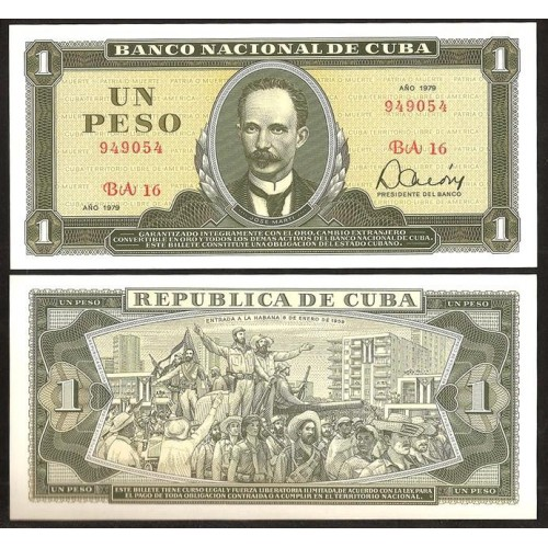 CUBA 1 Peso 1979