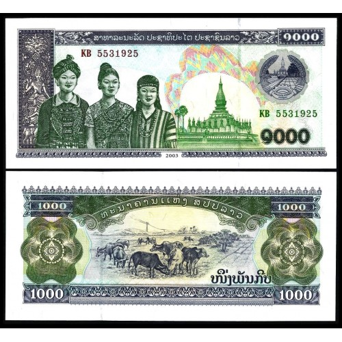LAOS 1000 Kip 2003