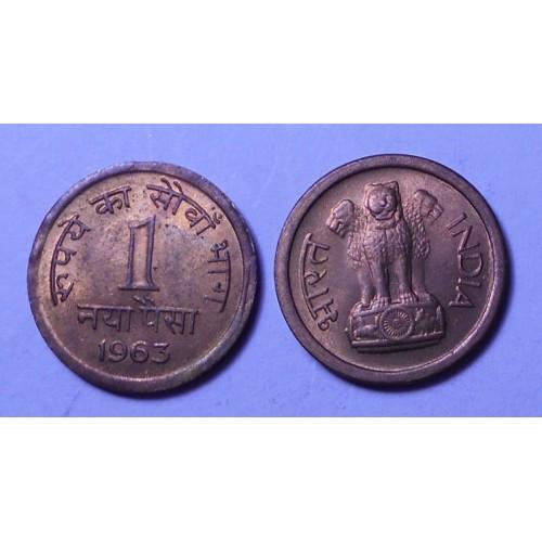 INDIA 1 Paisa 1963 C