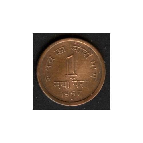 INDIA 1 Paisa 1957 B