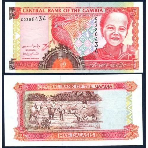 GAMBIA 5 Dalasis 2001