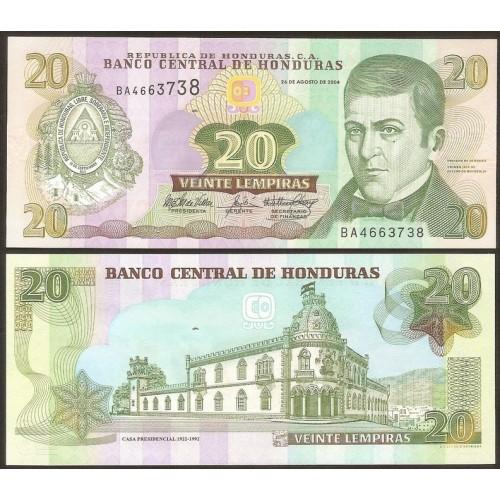 HONDURAS 20 Lempiras 2004