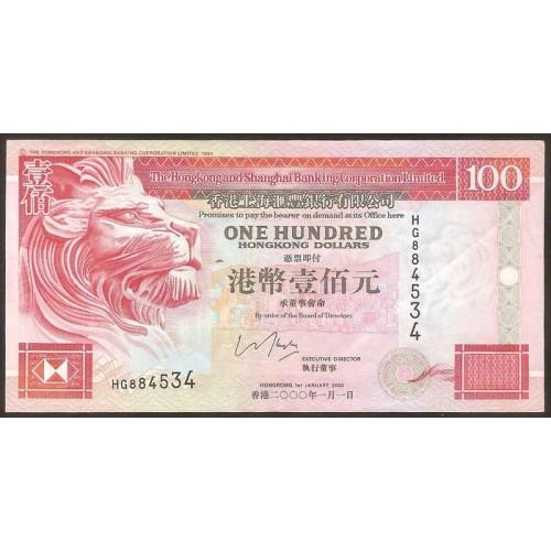 HONG KONG 100 Dollars 2000