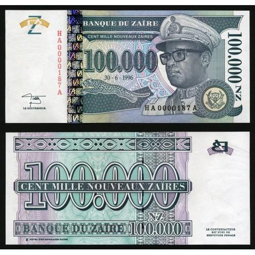 ZAIRE 100.000 Nouveaux...