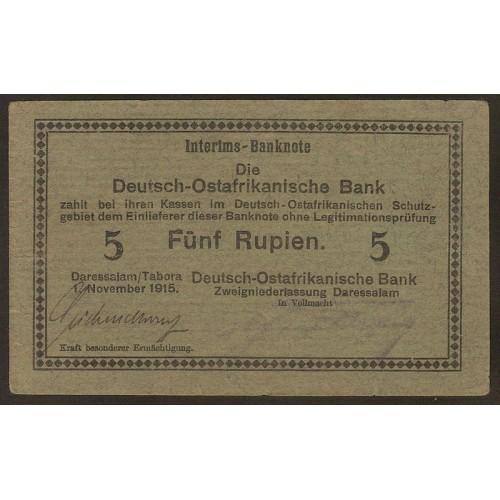 GERMAN EAST AFRICA 5 Rupien...