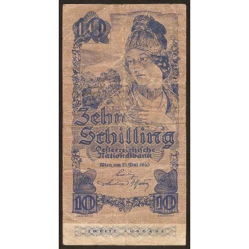 AUSTRIA 10 Schilling 1945