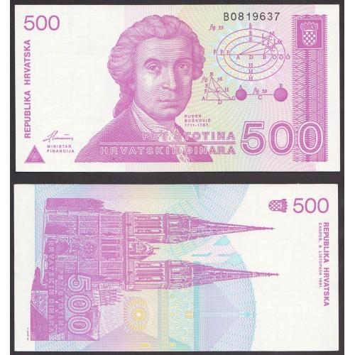 CROATIA 500 Dinara 1991