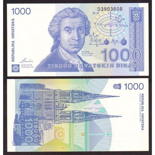 CROATIA 1000 Dinara 1991