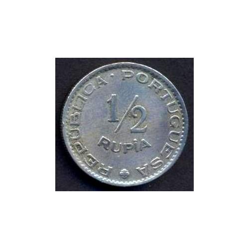 INDIA PORTUGUESE 1/2 Rupia...