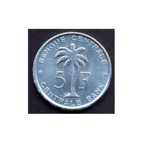 BELGIAN CONGO 5 Francs 1958
