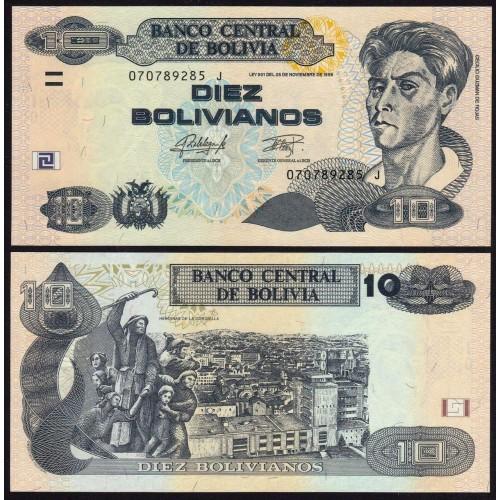 BOLIVIA 10 Bolivianos 2015...