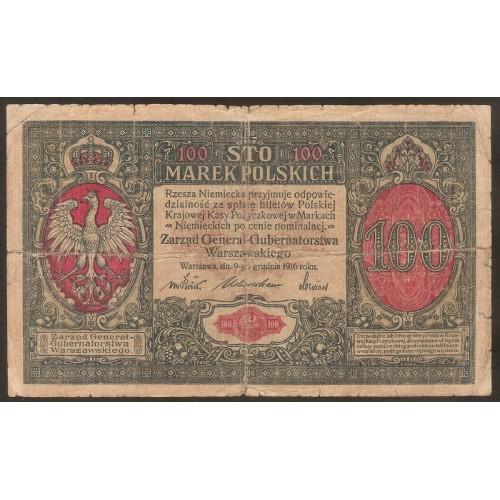POLAND 100 Marek 1916