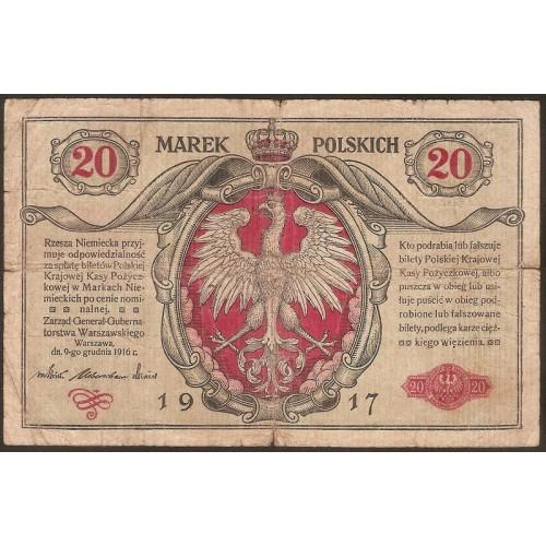 POLAND 20 Marek 1917
