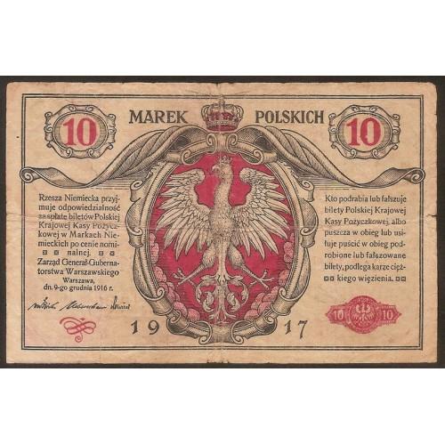 POLAND 10 Marek 1917
