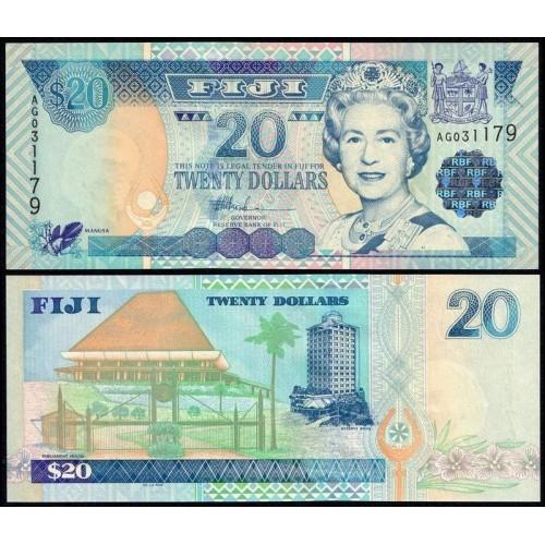 FIJI 20 Dollars 2002