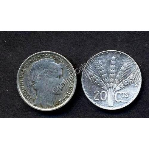 URUGUAY 20 Centesimos 1942 AG