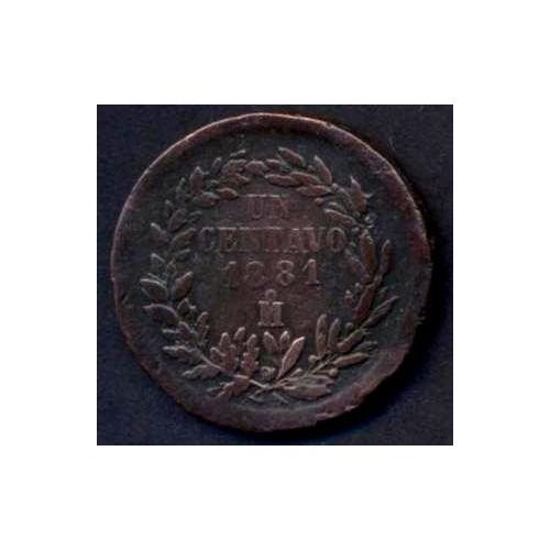 MEXICO 1 Centavo 1881 Mo