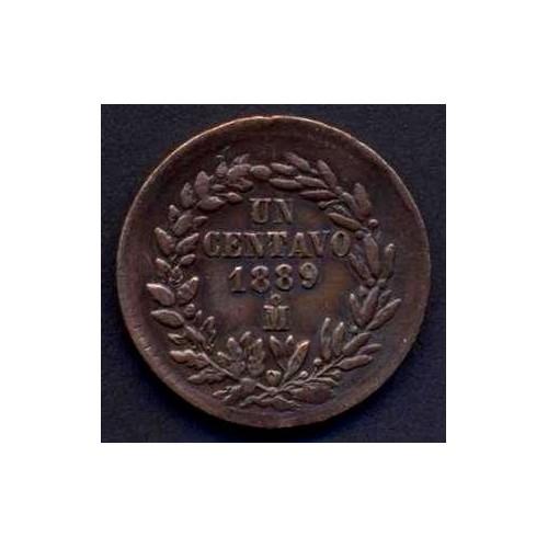MEXICO 1 Centavo 1889 Mo