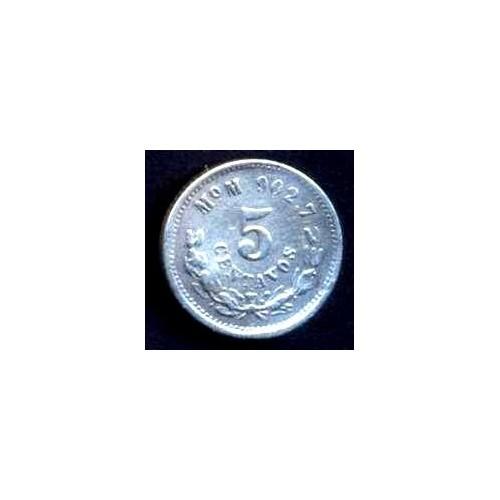 MEXICO 5 Centavos 1892 Mo M AG