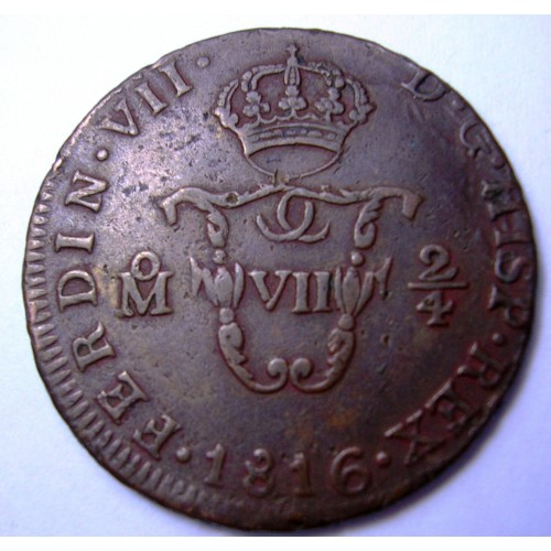 MEXICO 1/4 Real 1816...