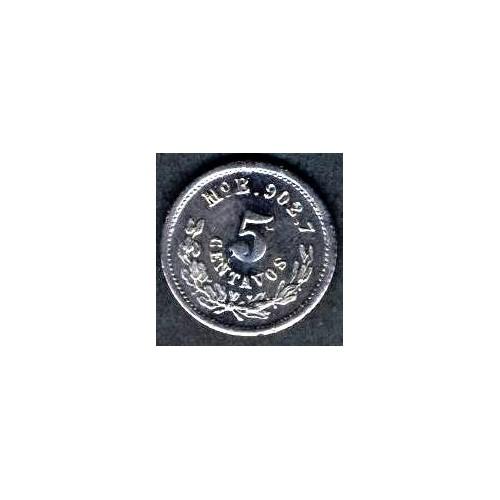 MEXICO 5 Centavos 1876 Mo B AG