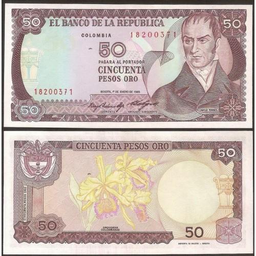 COLOMBIA 50 Pesos Oro 1985