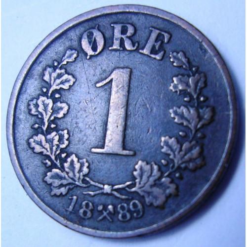 NORWAY 1 Ore 1889