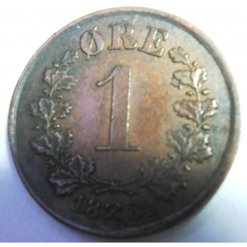 NORWAY 1 Ore 1884