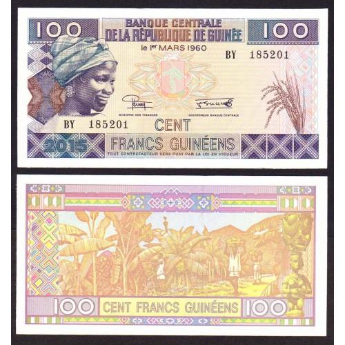 GUINEA 100 Francs 2015