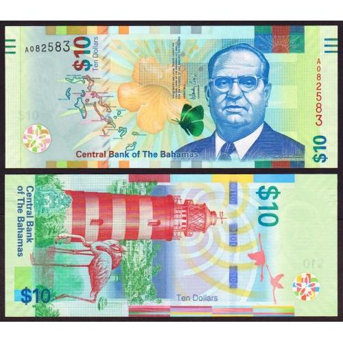 BAHAMAS 10 Dollars 2016