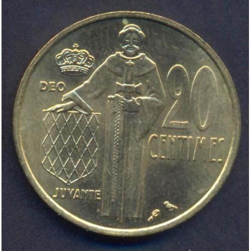 MONACO 20 Centimes 1975