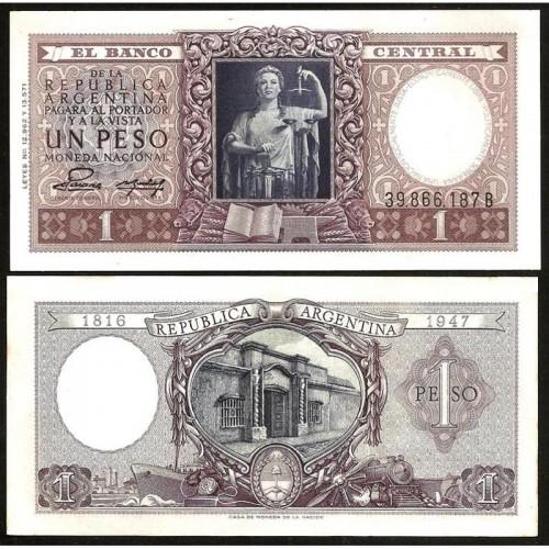 ARGENTINA 1 Peso 1952...