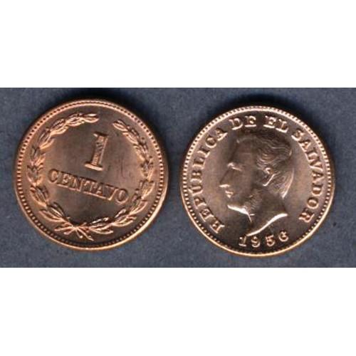 EL SALVADOR 1 Centavo 1956