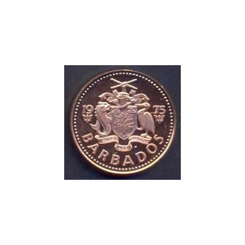 BARBADOS 1 Cent 1975 PROOF