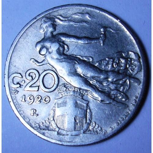 20 Centesimi 1920 donna...