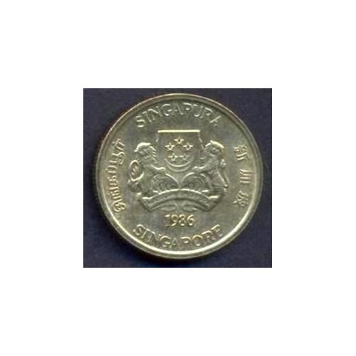 SINGAPORE 5 Cents 1986