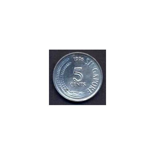 SINGAPORE 5 Cents 1976