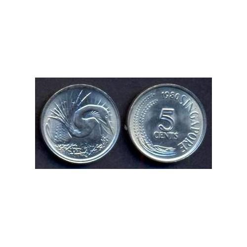 SINGAPORE 5 Cents 1980