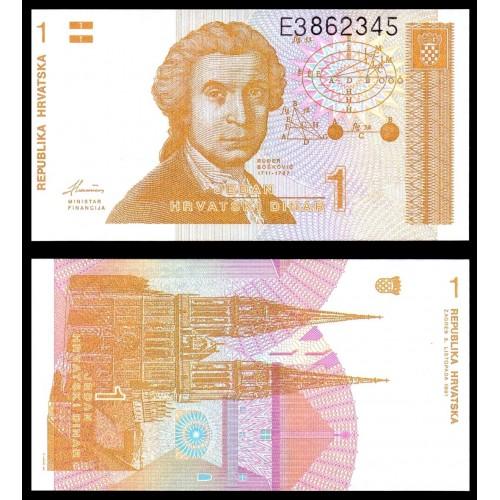 CROATIA 1 Dinar 1991