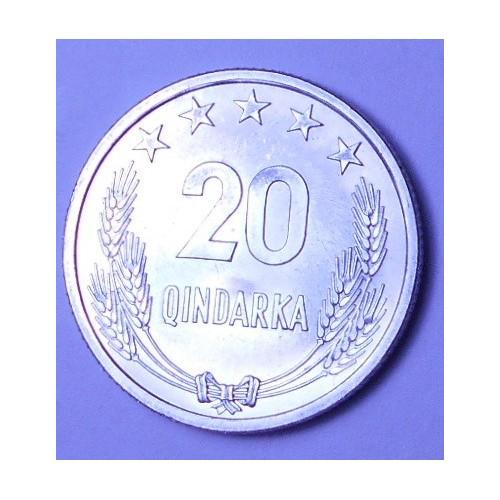 ALBANIA 20 Qindarka 1969...