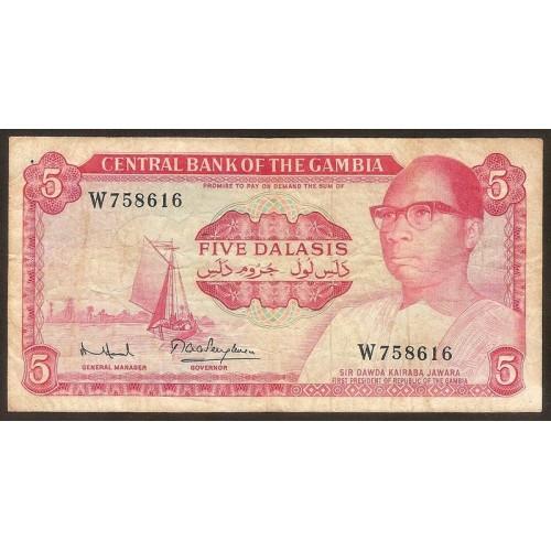 GAMBIA 5 Dalasis 1972/86