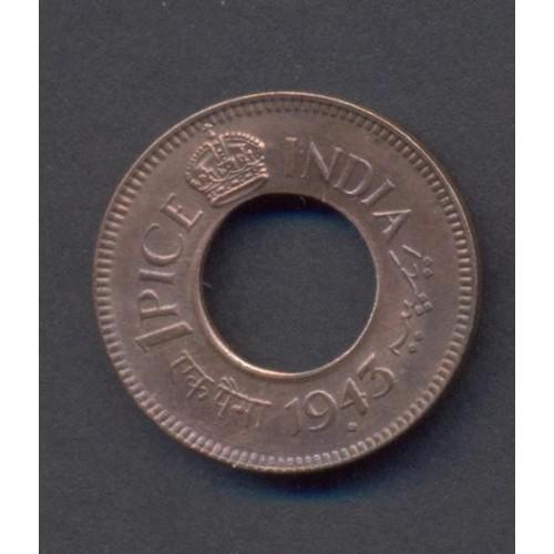 BRITISH INDIA 1 Pice 1943 (b)
