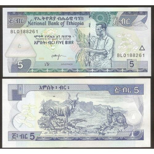 ETHIOPIA 5 Birr 2013