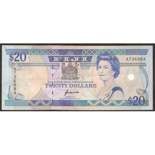 FIJI 20 Dollars 1992