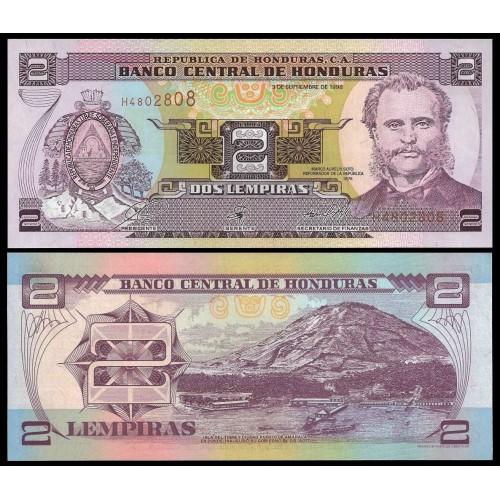 HONDURAS 2 Lempiras 1998